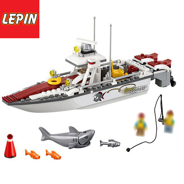 LEPIN™TOY|Official Store 02028 City Series Fishing Ship Sharp Model Building Blocks Bricks Gift Toys