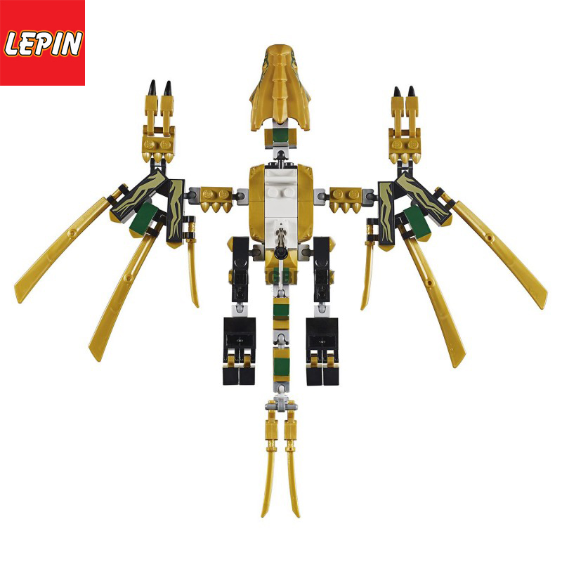 LEPIN 06094 Ninja Series 192PCS Legacy Golden Dragon Building Block Bricks Children Toys