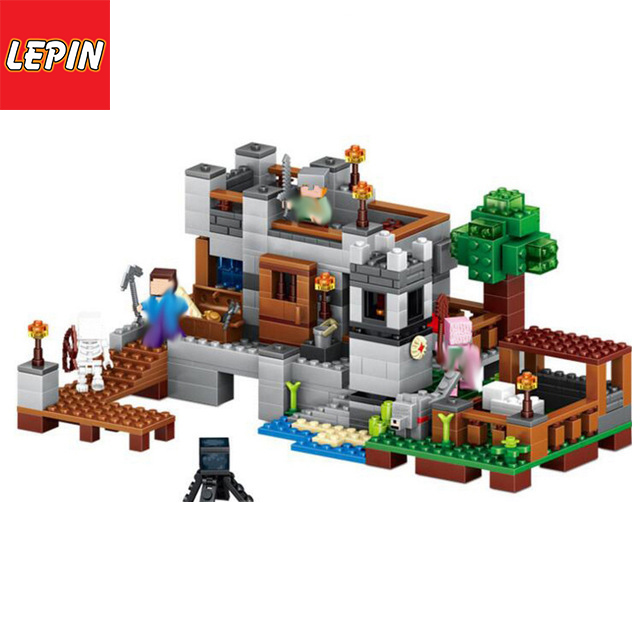 Lepin 18013  Minecraft 517 Pcs  Harbor Dock My world house Model Building Blocks  Bricks Toys For kids  Gift