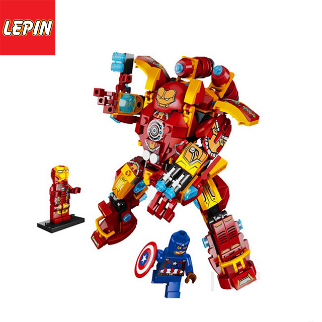 LEPIN 38001 Marvel Super Heroes Iron Man Mech MK46 Model Building Blocks Enlighten Figure Children Toys 338PCS