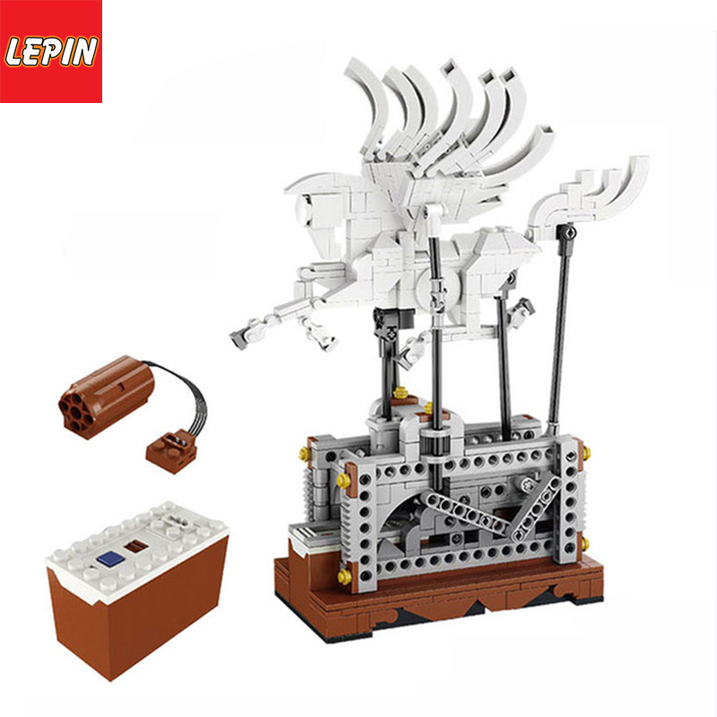 Lepin 23015 Mechanical Graceful Pegasus Automaton Building Blocks Compatible with Lego MOC Technic Birds Creative Toys for Kids