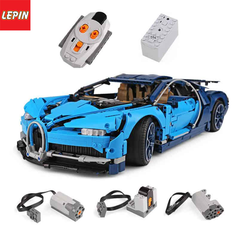 Lepin 20086D Technic Series 4031Pcs Figure Bugatti Chiron Remote Control Racing Car Set Model Building Kit Blocks Bricks Children Toy