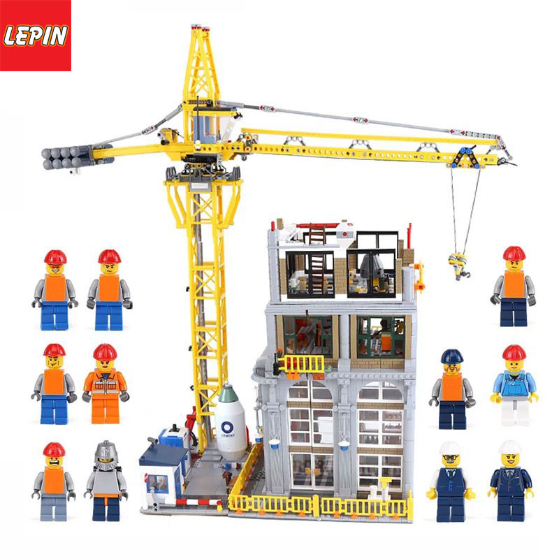 Lepin 15031  Architectural Series 4425Pcs The Classic Construction Site Model Building Kits Blocks Toys