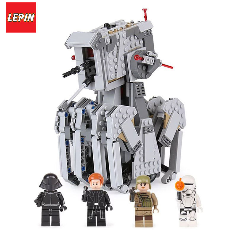 Lepin 05126 Star Wars Series 620Pcs The First order scout walker Set Genuine Building Blocks Bricks Children Toys