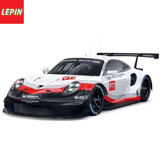 LEPIN 13380 1620PCS White 911 RSR Super Racing Car Model Building Blocks Compatible Legoings Bricks Educational Tos For Kids Birthday Gifts JISI