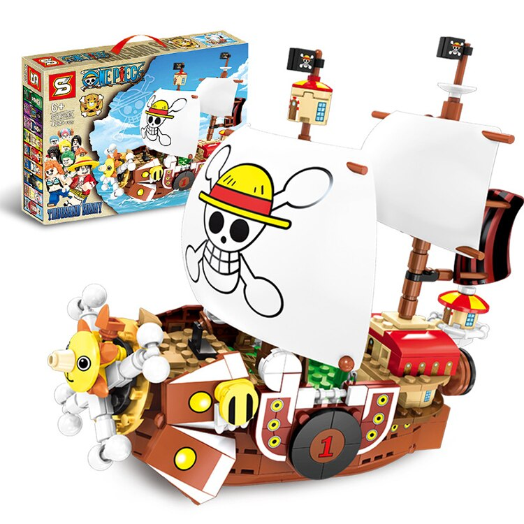 LEPIN SY6299 One Piece Sunny Pirate Ship Monkey D Luffy  Building Blocks Educational Toys Compatible with Legoings Anime