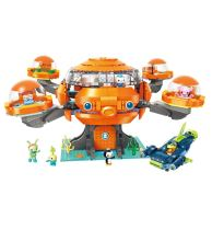 LEPIN 3701-3716 Octonauts Building Block Octo-Pod Octopod Playset CUP-Q Hammerhead Shark Vehicle & Barnacles kwazii Peso Tweak Inkling