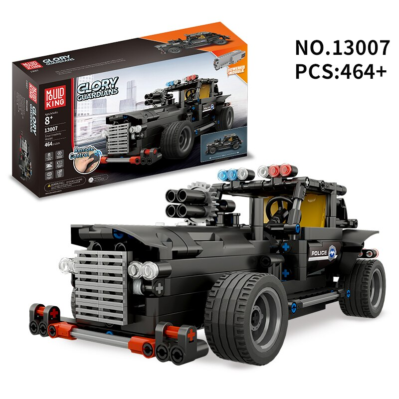 Lepin Technology Series 13007 Rc Police Car 464PSC Glory Guardians Electric Remote Control Car