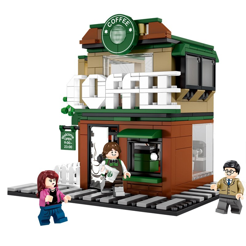 Lepin 601019 Mini Architectural 283PSC Coffee Starbucks Store Building Blocks