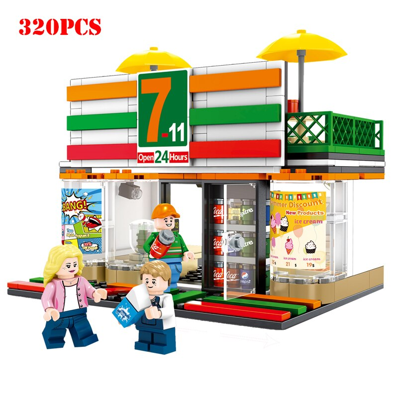 LEPIN 601017 Mini City Street ViewBuilding Blocks Compatible Legoings City DIY Bricks Toys For Children Gifts