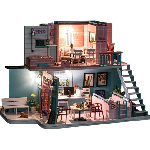 LEPIN 0013 wood Cafe Department Coffee House  Hand-assembled Model Cafe American Art House Gift
