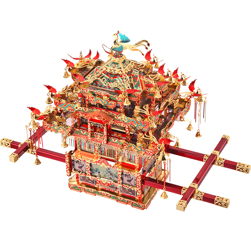 Lepin P116 Bride Sedan Chair 3D Three-dimensional Puzzle Metal Assembled Model Diy Manual High Difficulty Toy