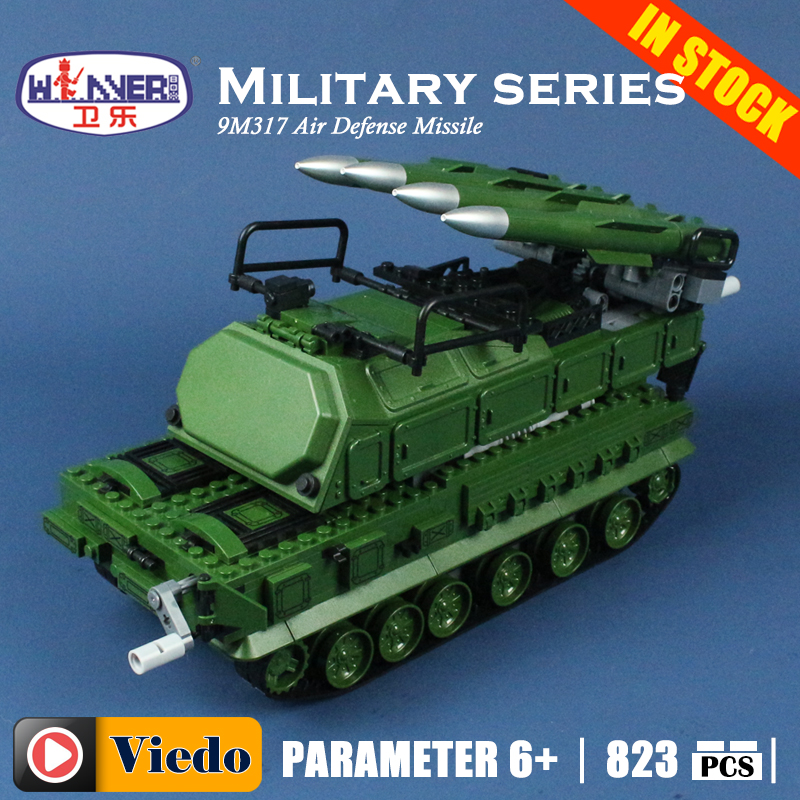 LEPIN 8103 9M317 anti-aircraft missile tank Model Building Toys hobbies Compatible With lego Blocks Educational Bricks for kids