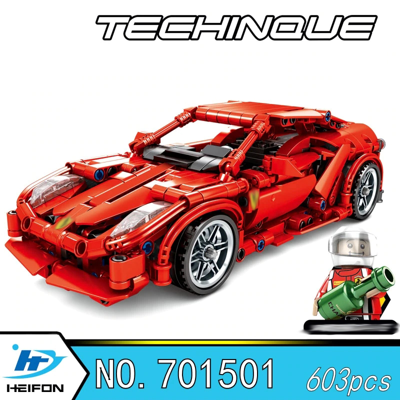 lepin 701501 Super Racing Car FRR-458 technic Building Blocks Bricks Compatible with legoinset Technic series Model toys Sembo 701501