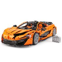 lepin 20087 Technic Car Compatible With Legoing MOC-16915 Orange Racing Car Set Building Blocks Bricks Car Model Christmas Gift