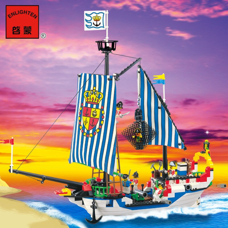 LEPIN 9114 Building blocks authentic Children's Educational  Pirate Series Royal Battleship 305 Hot selling Model