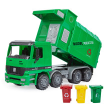 Lepin XY_04 Simulation Inertia Resistance To Fall Environmental Protection Barrel Garbage Truck Model Children's Toys