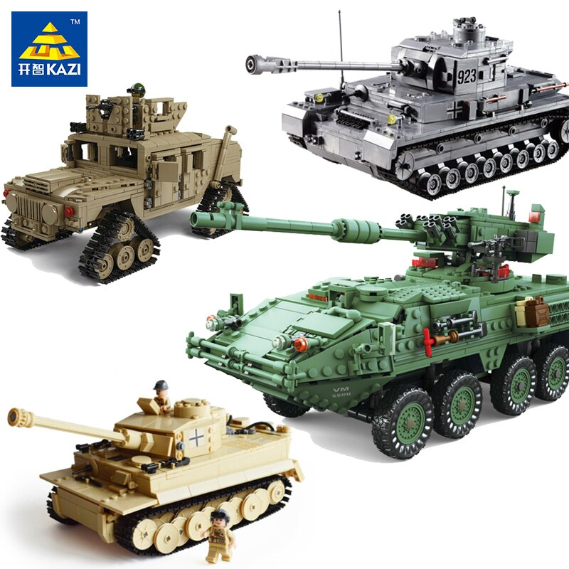 LEPIN 82010 New Theme  Military Tank Model Building Blocks DIY Assembly Toys Educational Blocks  Toys For Children