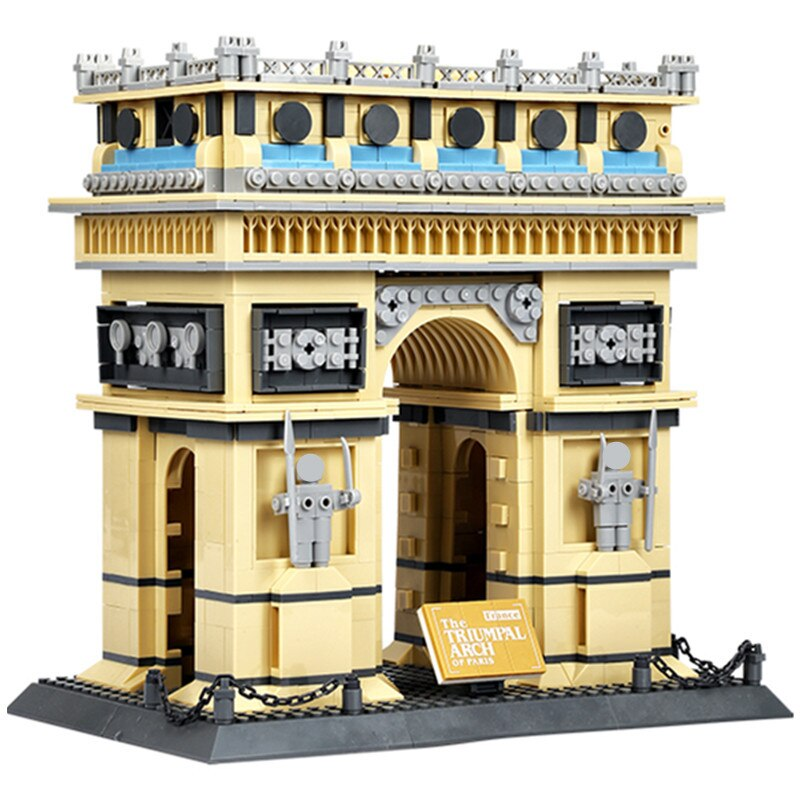 LEPIN 8021 Architecture PARIS ARC DE TRIOMPHE Series Building Blocks Educational Structure Bricks Toy For Children 21036 legoing
