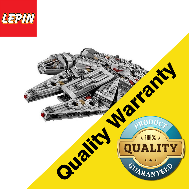 Lepin 05007 Star Series War Model Building Block toys Force Awakens Millennium Falcon For Children birthday Gift  Kids Toys