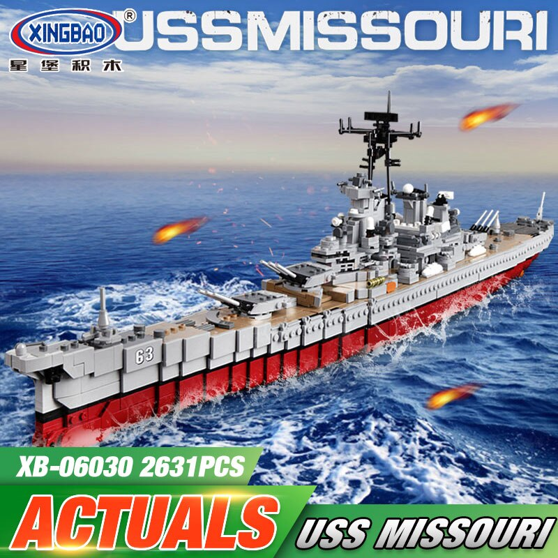 LEPIN 06030 Military Series The Missouri Battleship Set Building Blocks Compatible with New Star Destroyer Kids Toys