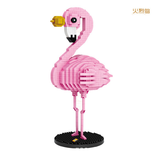 Lepin 9205 Doll Series 730PSC Flamingo Diy Small Particles Assembling Blocks