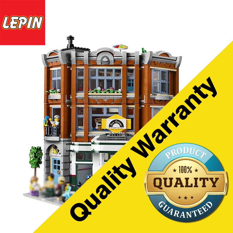 Lepining Legoing 15042 Corner Garage Set 10264 Assemblage 2569Pcs Building Series Buidling Blocks Kids Toys Collectable Gifts