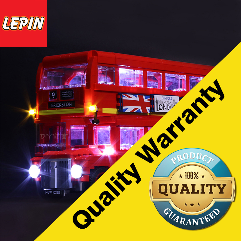 Lepin 21045 Led Light For Lego 10258 London bus Building bricks Creator City technic Blocks Toys