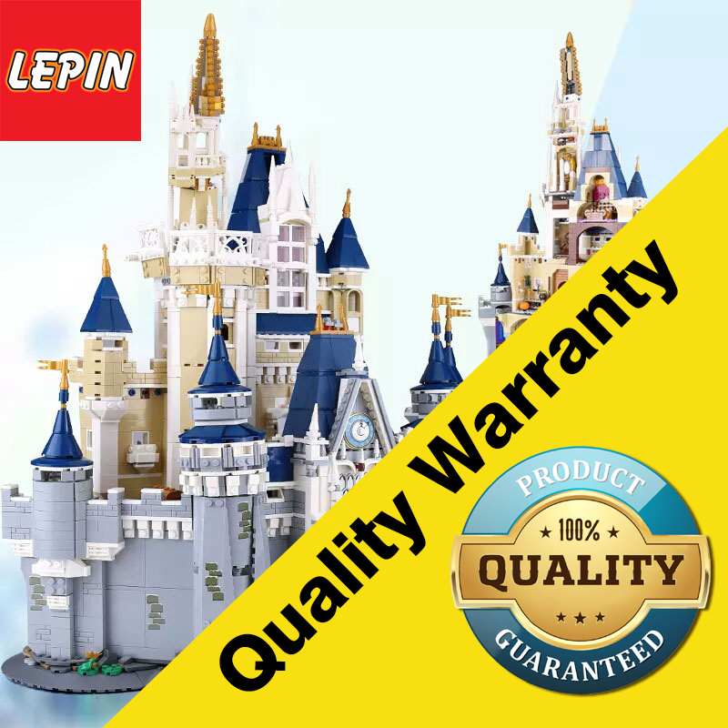 LEPIN 16008 Cinderella Princess Castle City Model Building Block Kid Toys For Children Gift 4080Pcs Compatible with Legoings