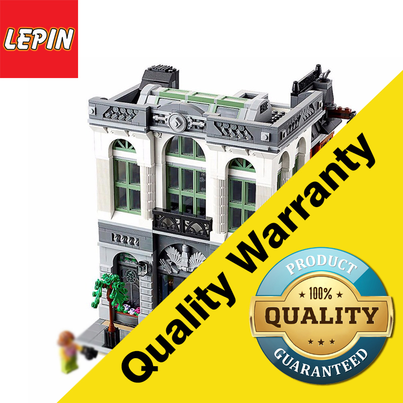 LEPIN 15001 2413Pcs Creator Brick Bank Model Building Kits Blocks Bricks Toy Compatible With Legoings 10251
