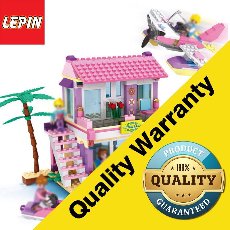 LEPIN 14515 Friends Series Beach Villa 423 PCS Building Block House Sets For Girls DIY Bricks Baby Gift Toys