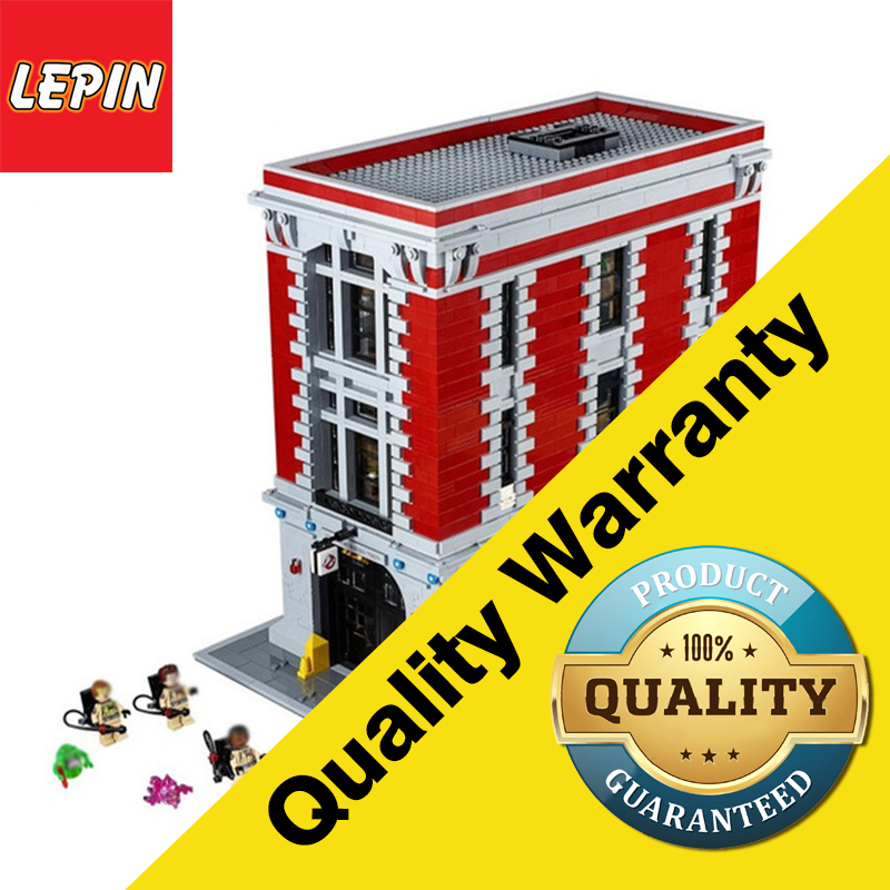 LEPIN 16001 Architectural Series 4695PCS  Ghostbusters Firehouse Headquarters Brinquedos Model Set Building Kits Toys