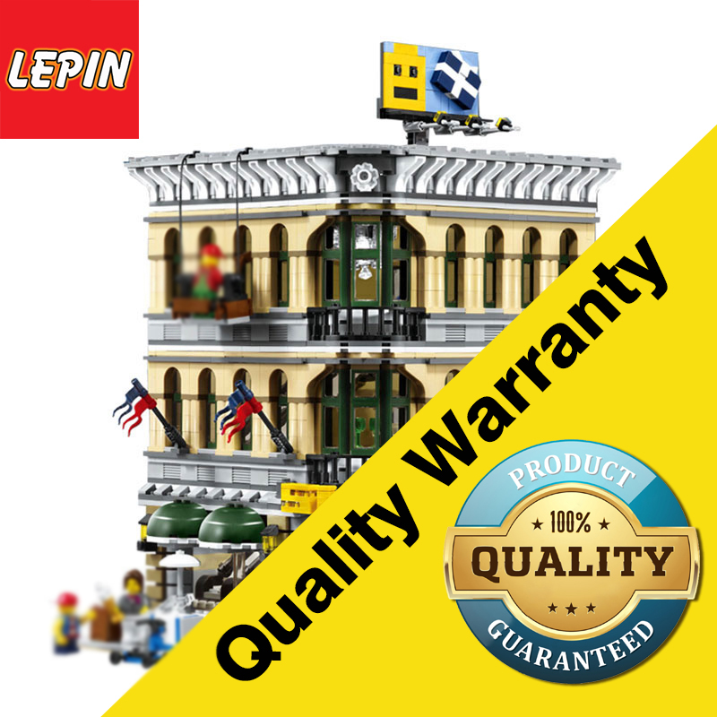 LEPIN 15005 Architectural Series 2232Pcs City Creator Grand Emporium Model Building Kits Blocks Bricks Action Bricks Children Toy