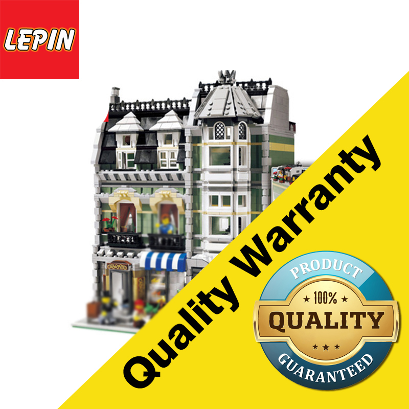 DHL LEPIN 2462Pcs  15008 City Street Creator Green Grocer Model Building Kits Blocks Bricks Compatible 10185 free shipping