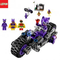 LEPIN 07058 New Genuine  Movie Series The Catwoman Motorcycle Chase Set Building Blocks Bricks Educational Toy
