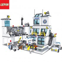 LEPIN 1005W Military Policemen City Military War Rescue Plan Policemen Car Helicopter Building Blocks Sets Bricks Model Kids Toys Compatible Legoings