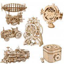 LEPIN 0004 3D Wooden Puzzle Mechanical Gear Drive Model Toys Assembly Model Building Kit Toys Gift for Children Adult Teens