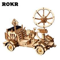 LEPIN 0003 Moon Buggy Solar Energy Toys 3D Wooden Puzzle Game Assembly Model Building Kit Toys For Children Kids Adult LS401