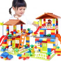 LEPIN 0026 Colorful City House Roof Big Particle Building Blocks Castle Educational Toy For Children Compatible LegoINGlys duplo slide