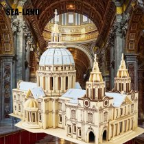 LEPIN 0029 Kids Toy Of 3D Wooden Puzzle For Children And Adult St.Paul's Cathedral A Quality Montessori Educationaly Toy As Hobby Gift
