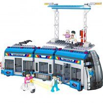 LEPIN 4143 City Series BRT Fast Bus Car Passenger Train Station Figures Building Blocks Sets Bricks Kids Toys Compatible Legoings