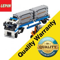 Lepin 20035 Technic Series 631Pcs Container Yard Model Building Blocks Bricks Educational Toys