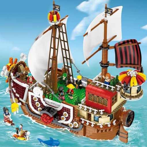 LEPIN 2019 New DHL 3D2Y Movie One Piece Series Luffy Nami Thousand Sunny Ship  Model Building Kits Blocks Bricks Educational Kids Toys