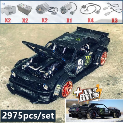 2019 LEPIN 20102 New 1965 Ford Mustang Hoonicorn Racing Car fit legoings Technic MOC-22970 FIT 20102 building block bricks kid toys gift