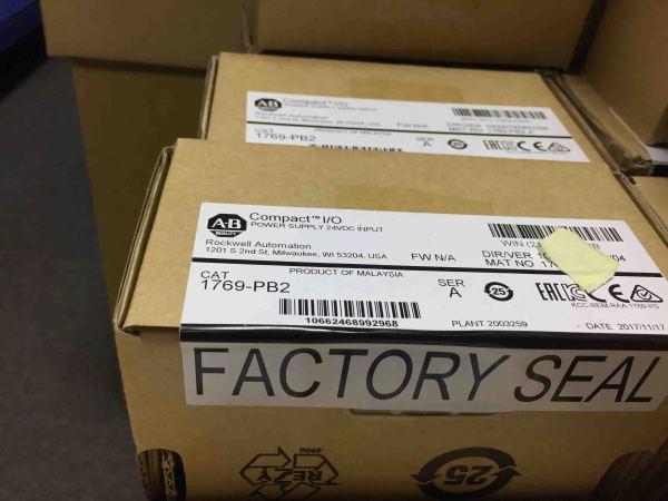 New sealed Allen-Bradley 1769-PB2 CompactLogix Power Supply 24V DC Input