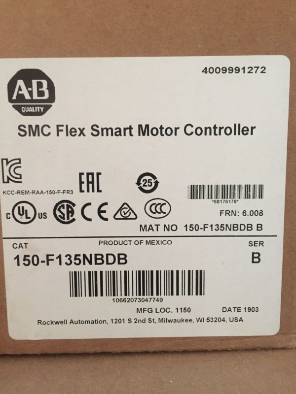 New sealed Allen Bradley 150-F135NBDB SMC Flex Smart Motor Controller