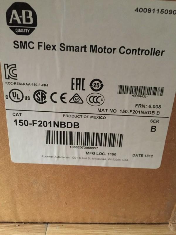 New sealed Allen Bradley 150-F201NBDB SMC Flex Smart Motor Controller