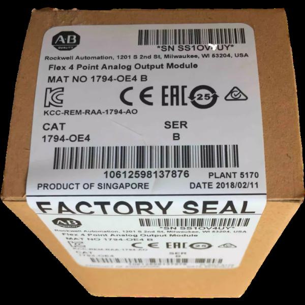 New sealed 1794-OE4 Allen Bradley Flex 4 Point Analog Output Module