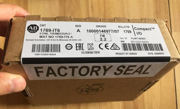 (Special for Walter) New sealed Allen-Bradley 1769-IT6 CompactLogix 6 Channel Thermocouple