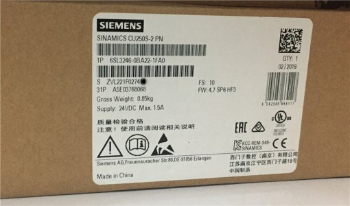 6SL3246-0BA22-1FA0 Siemens 100% Brandy Original new Factory Sealed